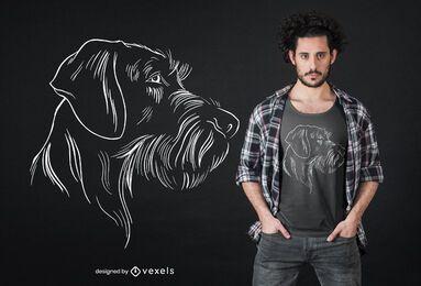 Diseño de camiseta de puntero alemán