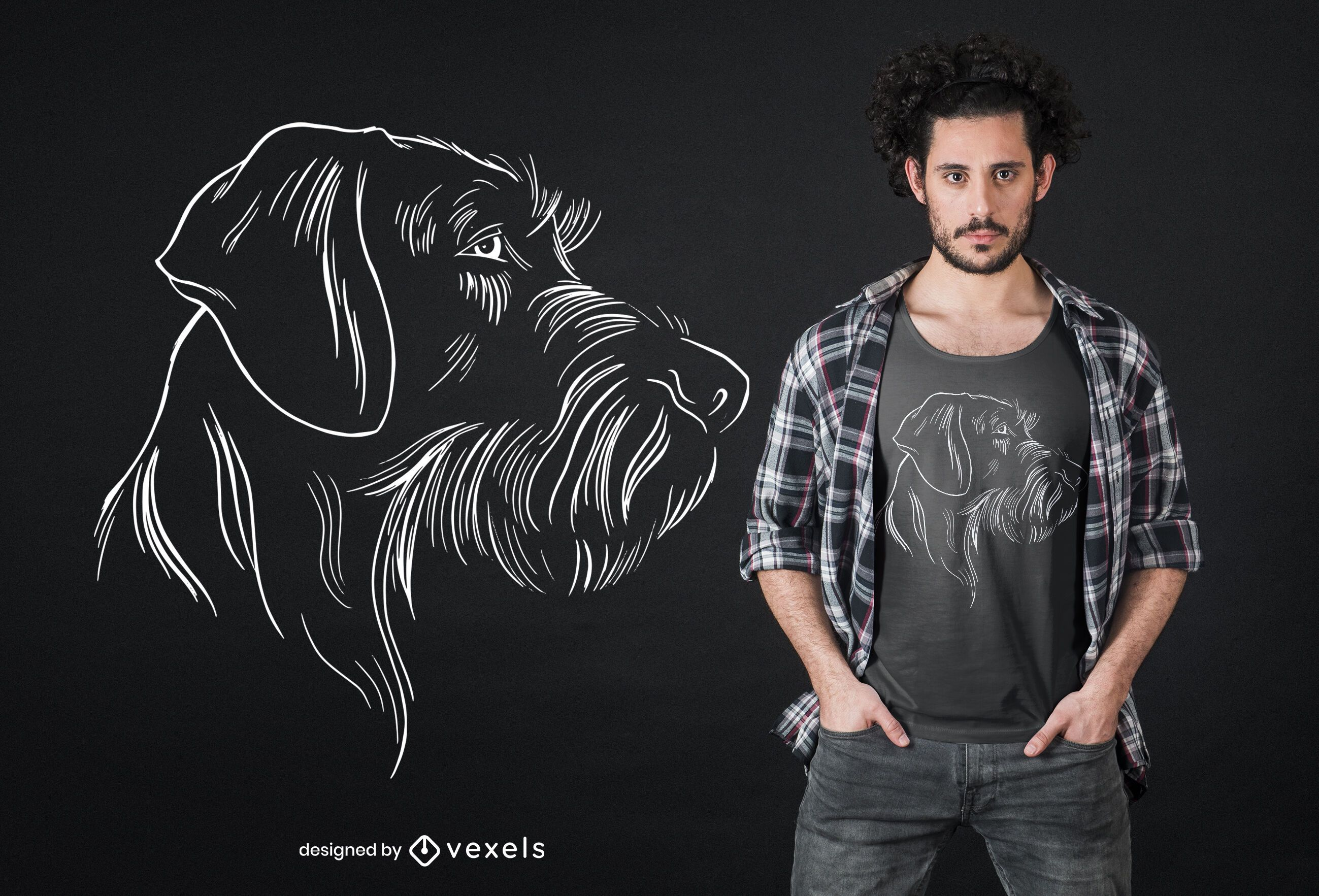 German Wirehaired Pointer t-shirt design