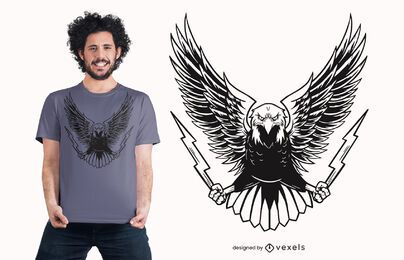 Angry eagle t-shirt design