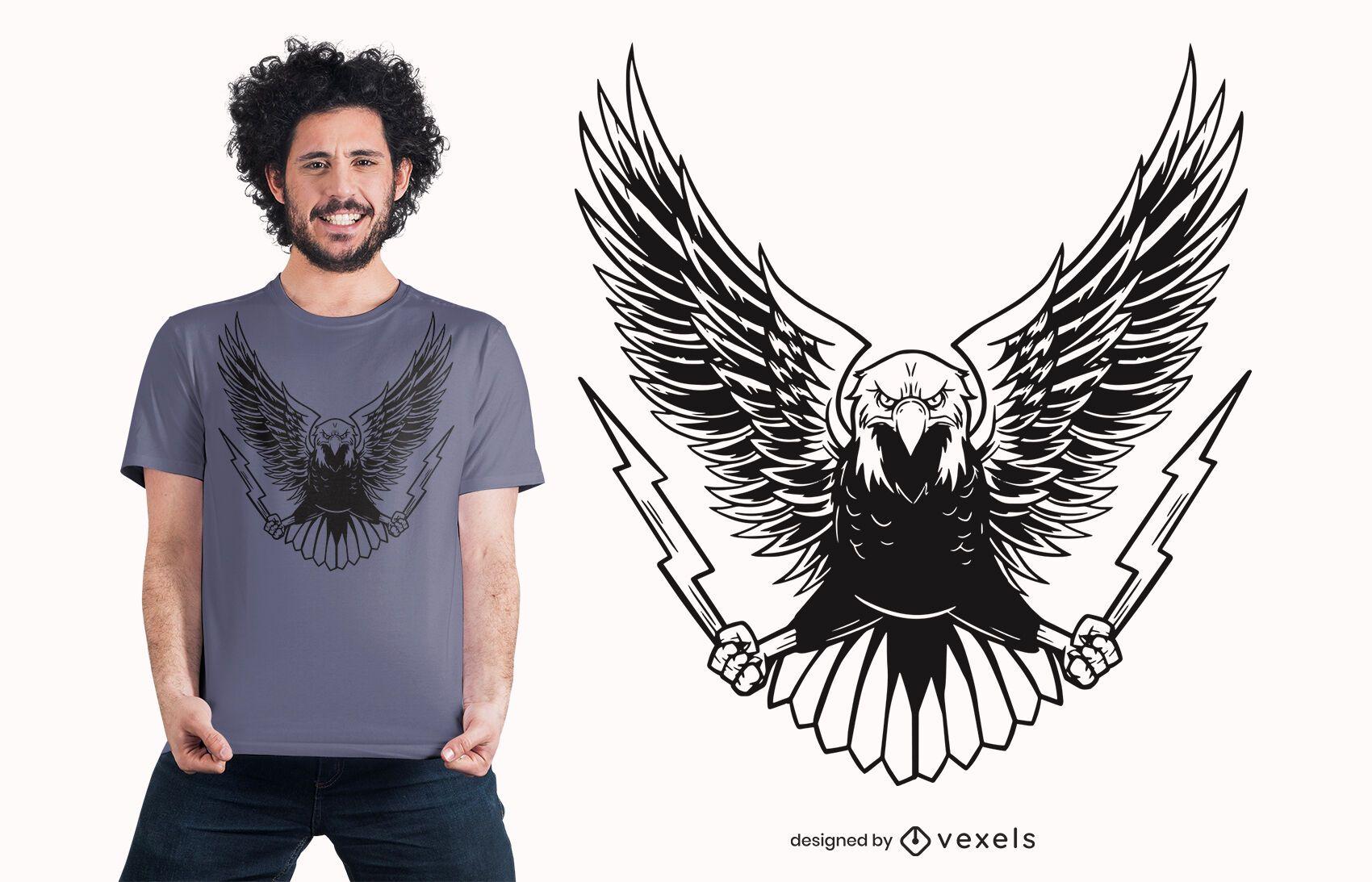 Angry eagle t-shirt design