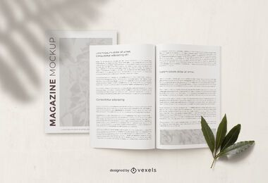 Magazine page mockup composition