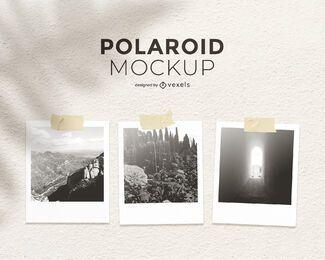 Polaroid cenografia maquete