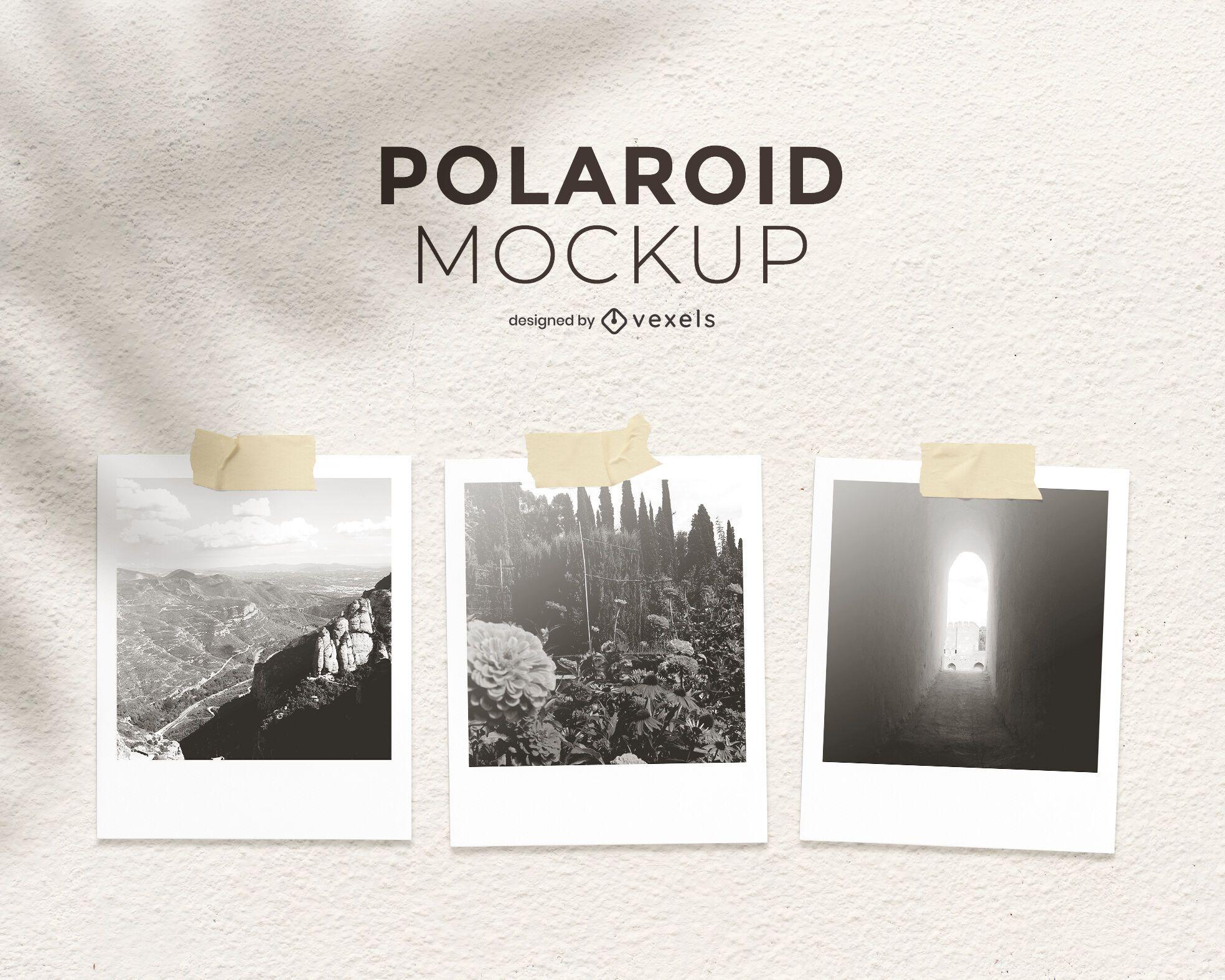 Diseño de maqueta de Polaroid set