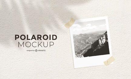 Design de maquete de fotografia Polaroid
