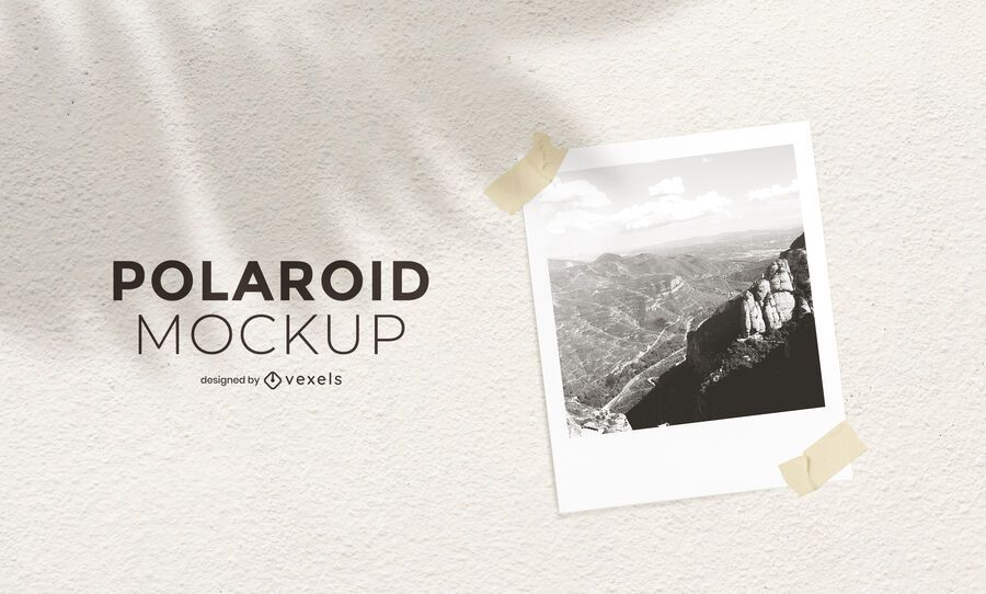 Polaroid photograph mockup design