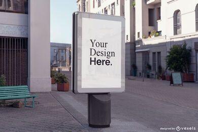 Maquete de placa de rua urbana