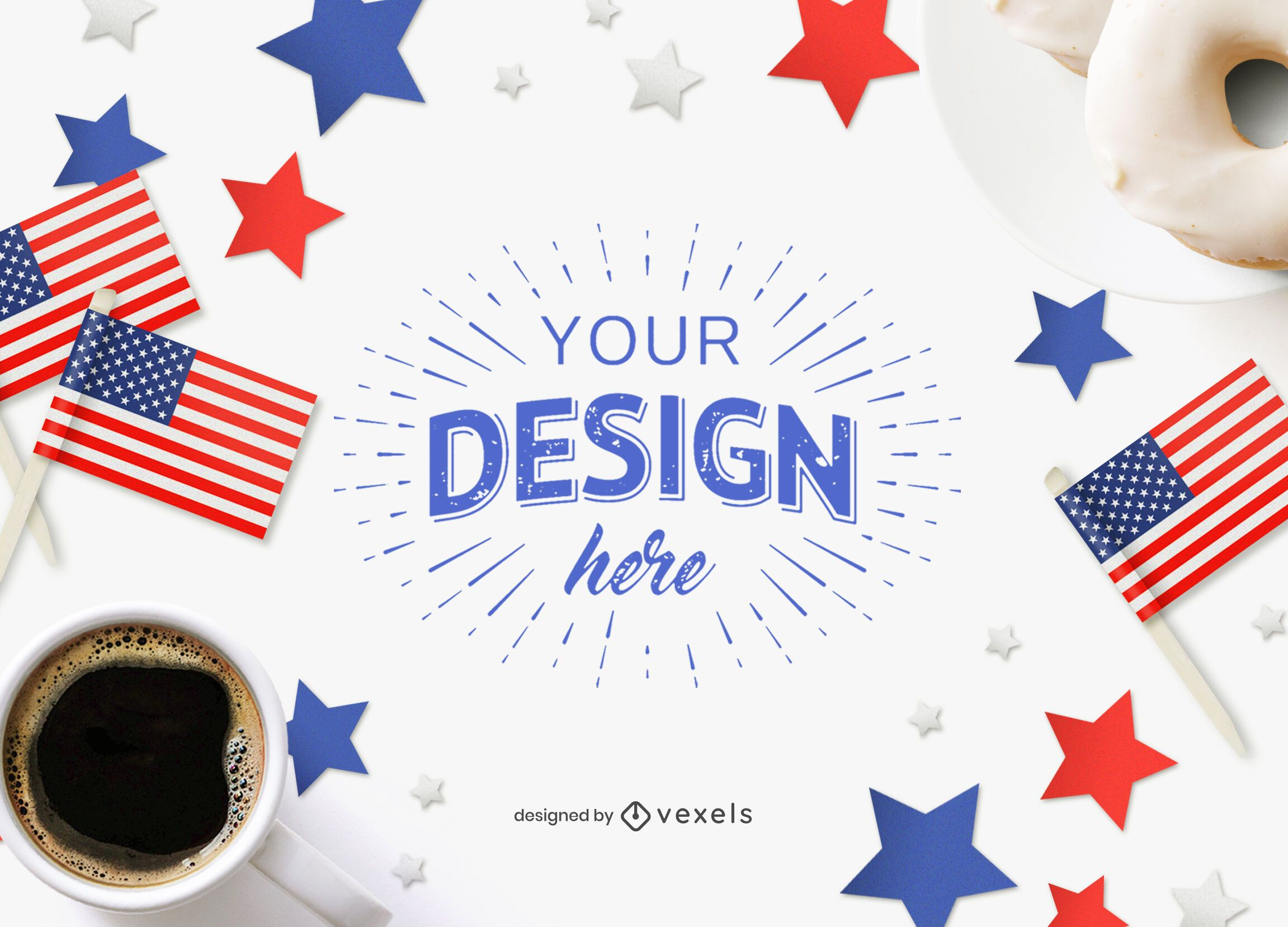 4th of July mockup composition