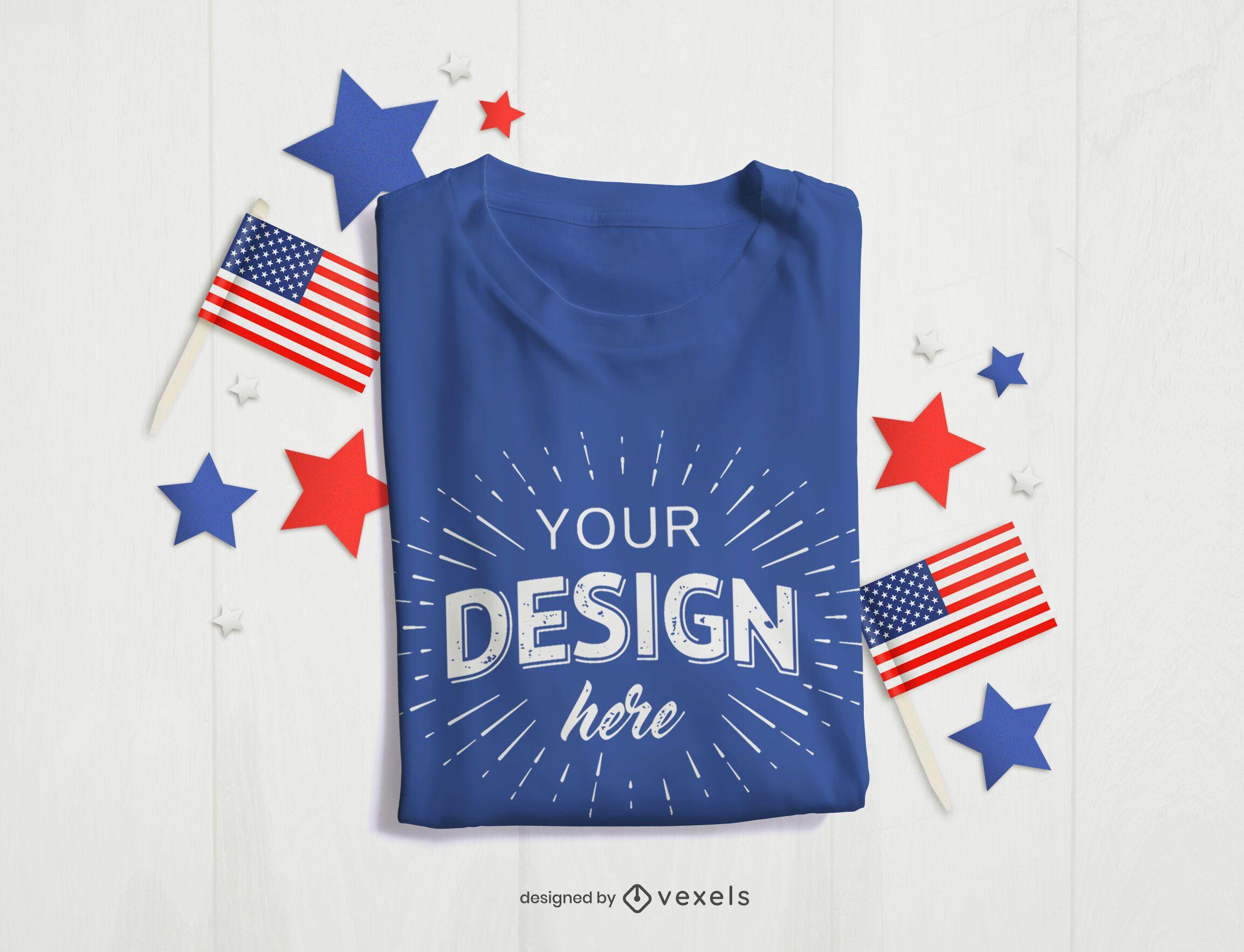 4th of July t-shirt mockup