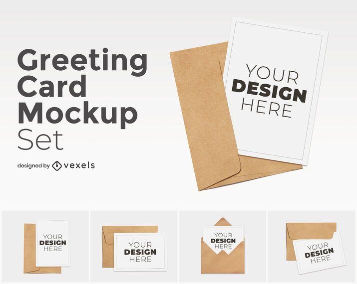 Greeting card mockup set
