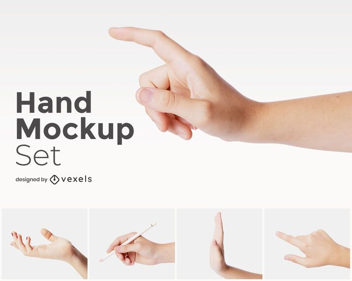 Hands mockup set