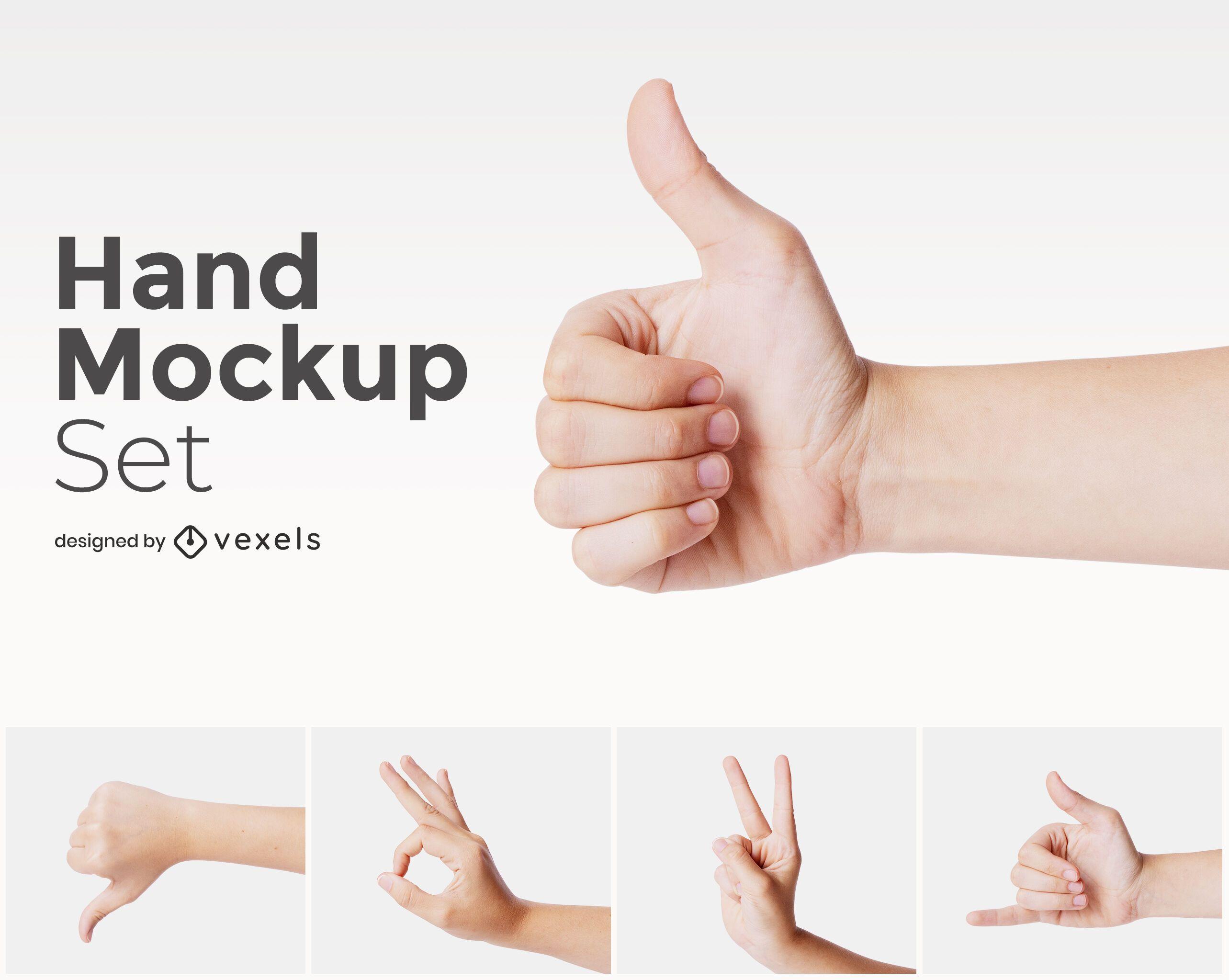 Hands mockup design set