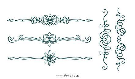 Diseño de adornos rizados