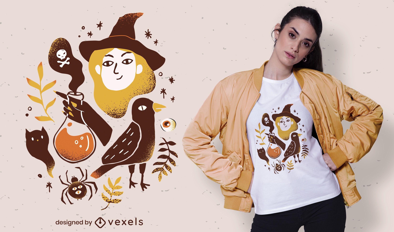 halloween elements t-shirt design