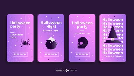 Halloween party social media story template