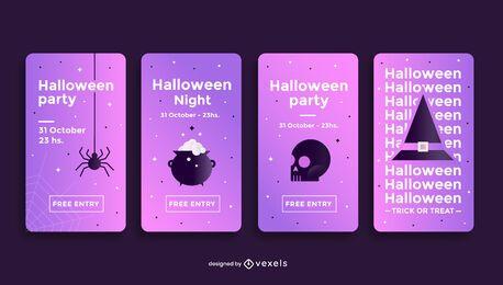 Modelo de história de mídia social de festa de Halloween