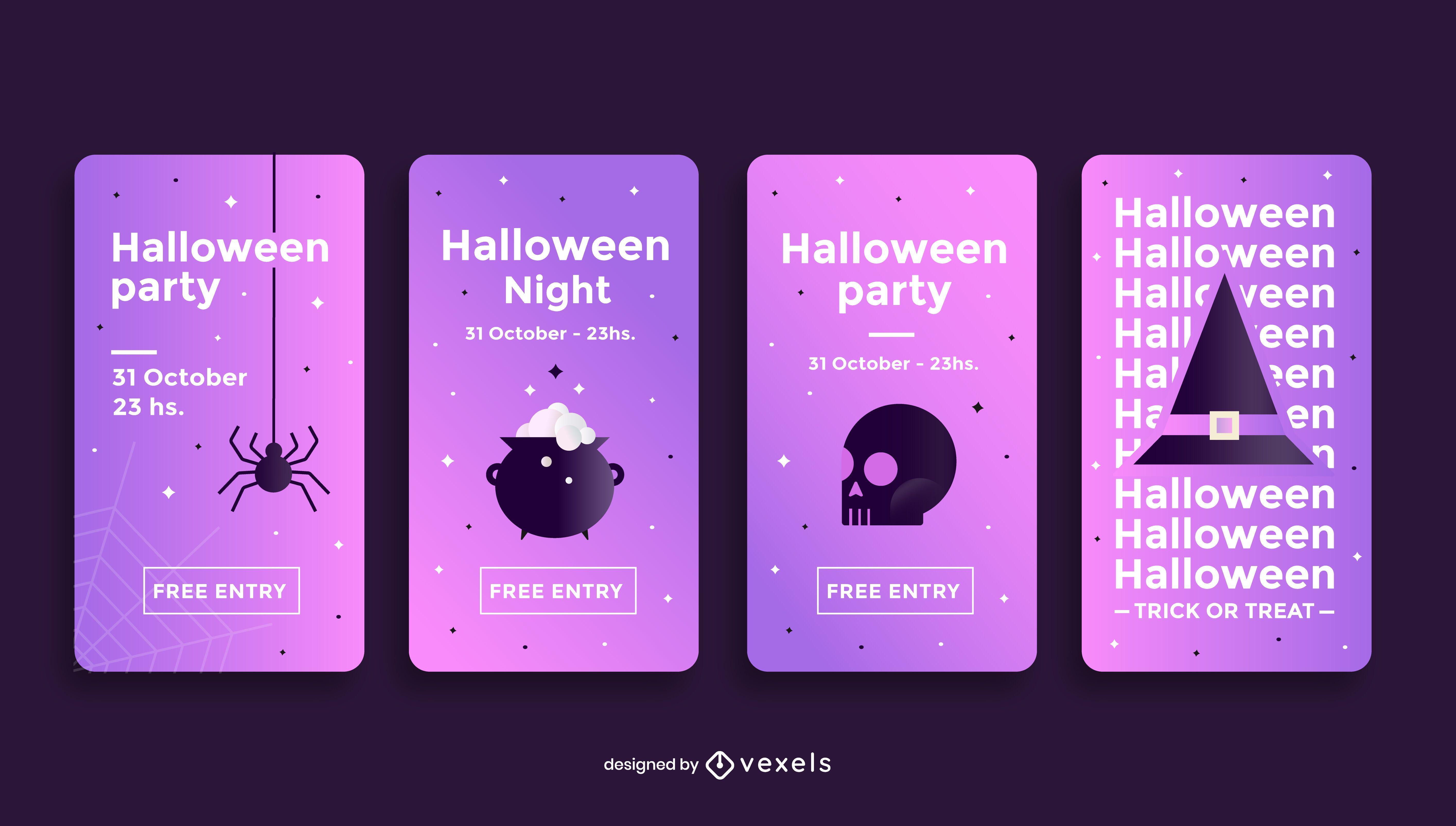 Plantilla de historia de redes sociales de fiesta de Halloween