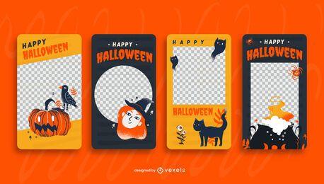Modelo de história de mídia social de Halloween