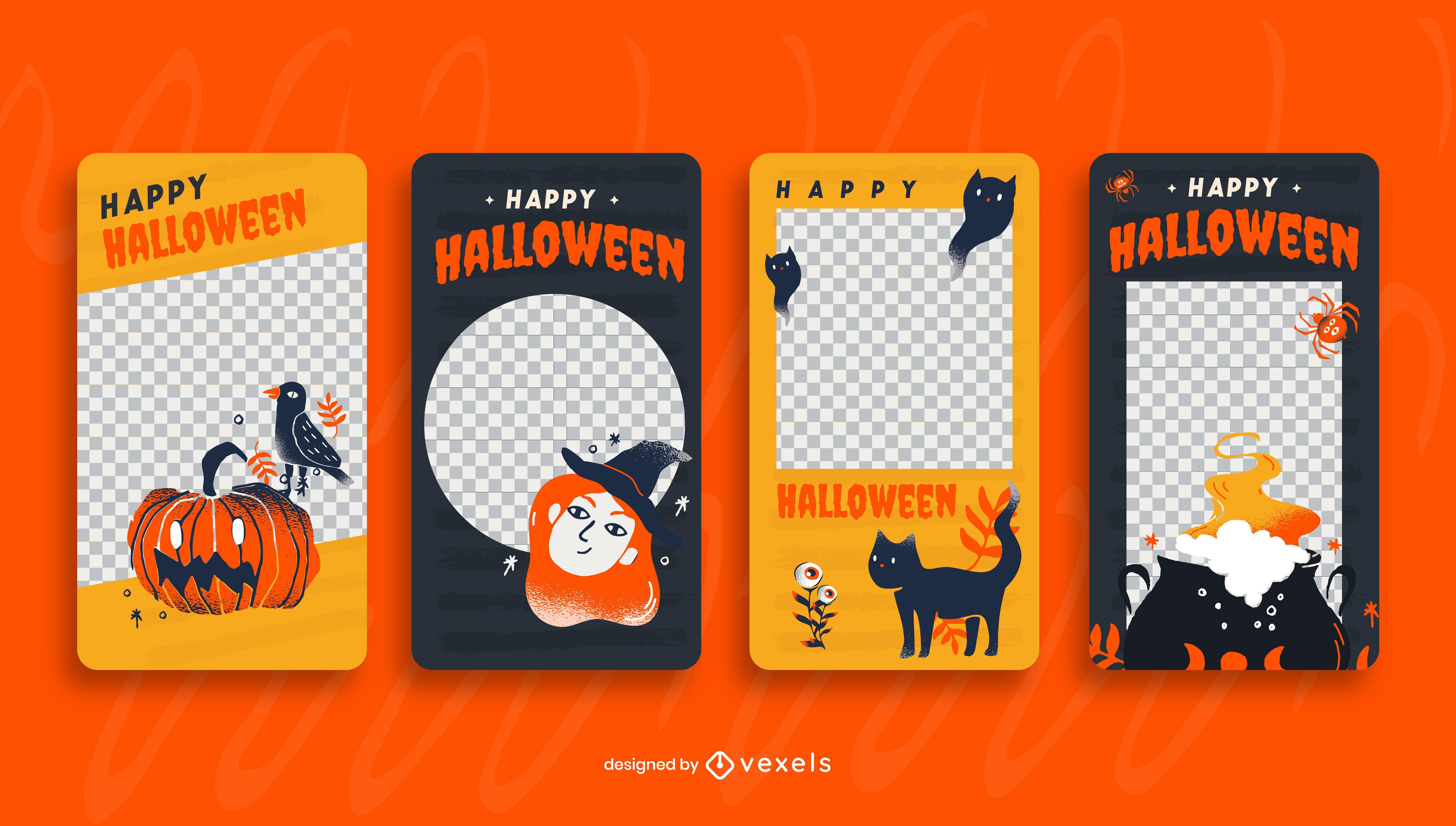Plantilla de historia de redes sociales de Halloween