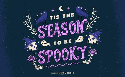 Temporada de letras assustadoras de halloween