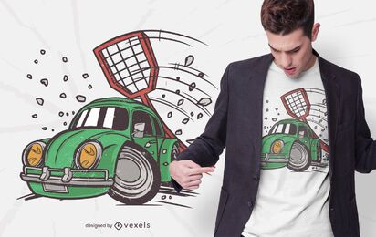 Car fly swatter t-shirt design