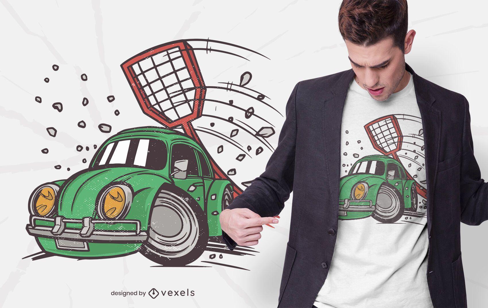 Car fly swatter t-shirt design