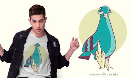 Projeto engraçado do t-shirt do pidgeon