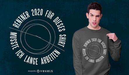 Diseño de camiseta de cita alemana 2020