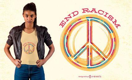 Design de camiseta para acabar com o racismo