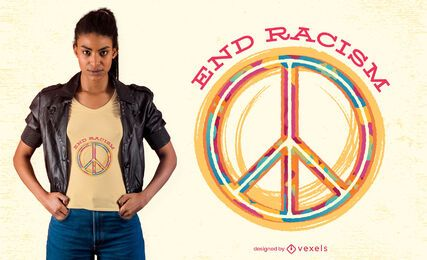 Diseño de camiseta End racism