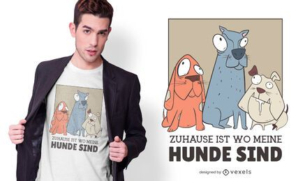 Home dogs german t-shirt design