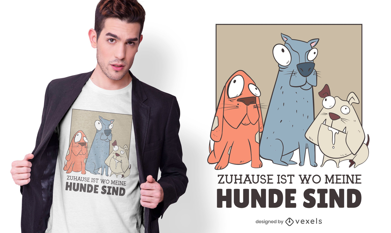 Home dogs german t-shirt design
