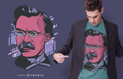 Design de t-shirt de retrato Nietzche