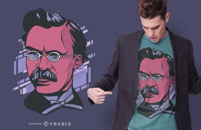 Nietzche portrait t-shirt design