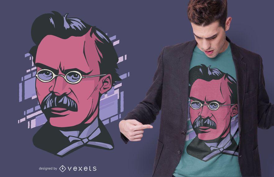 Diseño de camiseta de retrato Nietzche