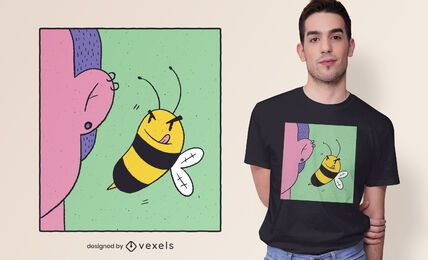 Bee ear t-shirt design