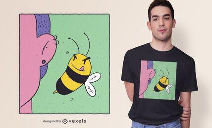 Design de t-shirt de orelha de abelha
