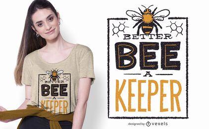 melhor abelha um design do t-shirt do depositário