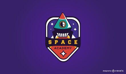 Design de logotipo da academia espacial