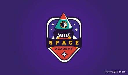Diseño de logotipo de academia espacial