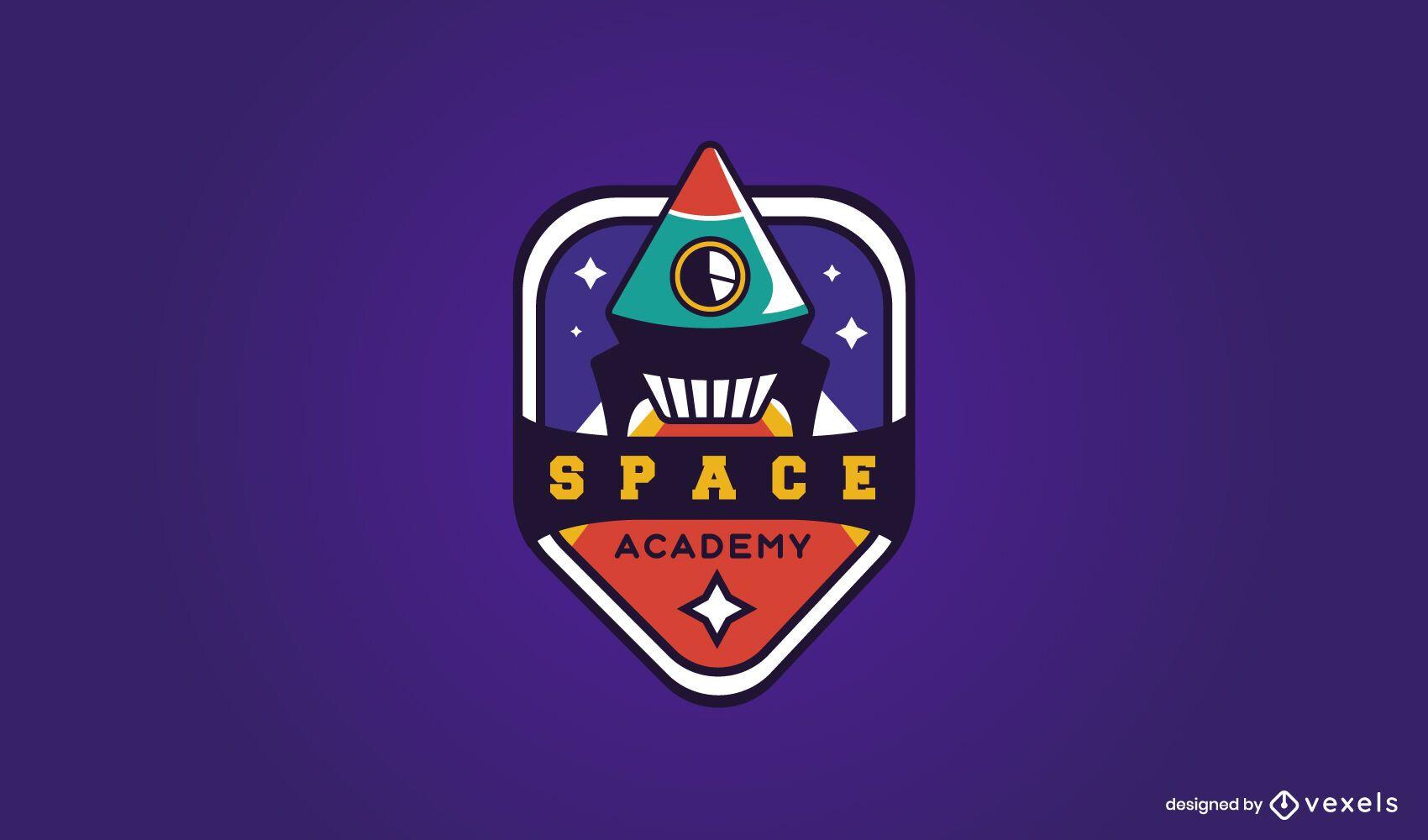 Diseño de logo de academia espacial