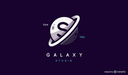 Design de logotipo de galáxia de Saturno