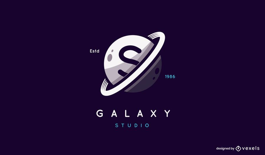 Saturn galaxy logo design