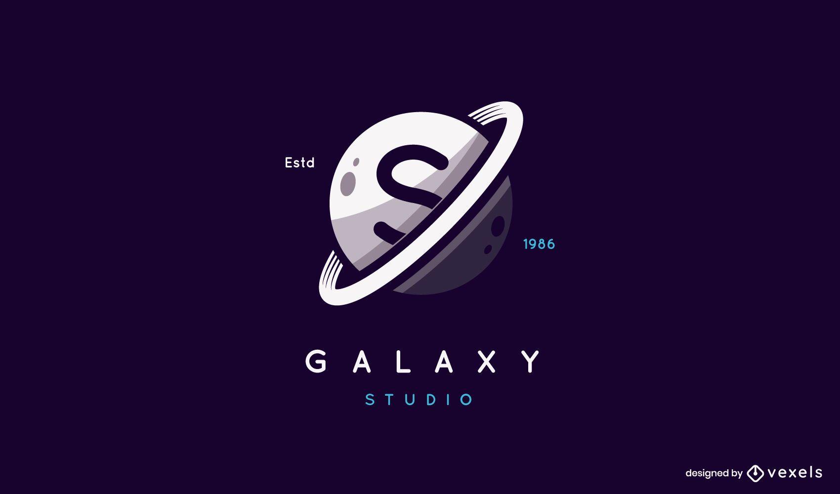 Saturn galaxy logo design