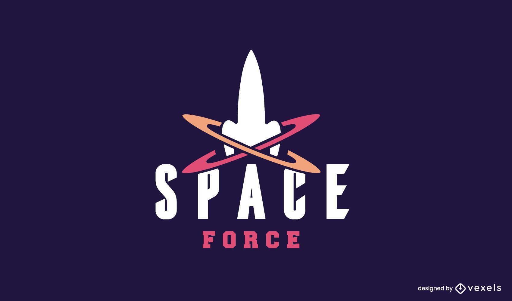 Diseño de logo de fuerza espacial