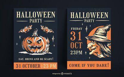 Design de pôster vintage de Halloween