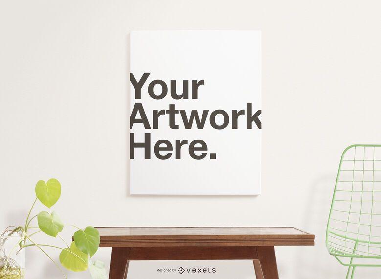 Composição de maquete de cartaz de obras de arte