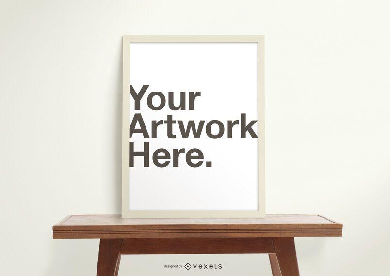 Artwork frame mockup composition