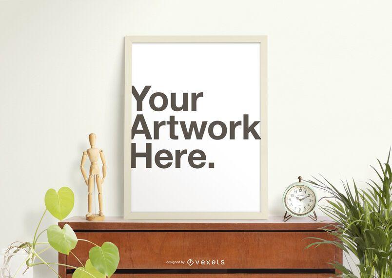 Canvas frame mockup composition