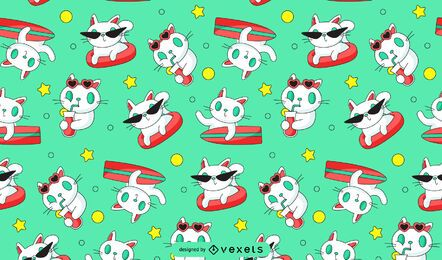 Cat surfing pattern design