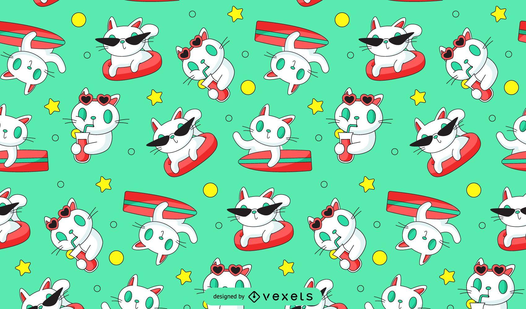 Cat surfing pattern design
